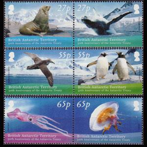 BR.ANTARCTIC TERR. 2009 - Scott# 414-6 Wildlife Set of 6 NH