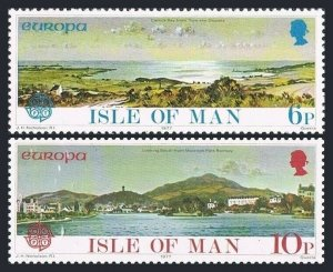 Isle of Man 99-100 blocks/4,MNH.Michel 95-96. EUROPE CEPT-1977.Carrick Bay,Park.