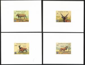 Mali WWF Giant Eland 4 De-Luxes SG#1105-1108 SC#542-545 MI#1078-1081