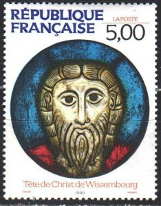 France. 1990. 2782. Stained glass, biblical motives. MNH.