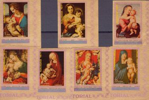 Equatorial Guinea 1972 Mi#A37/43 CHRISTMAS '71 Famous Ptgs Set(7) IMPERFORATED