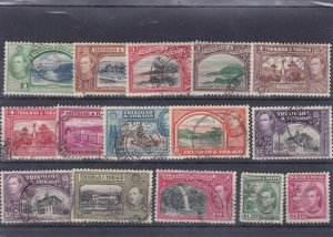 BC146) Trinidad & Tobago 1938 Definitives complete fine used cds cancels
