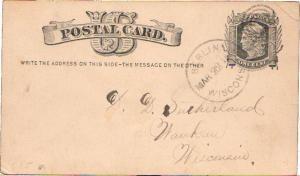 United States Wisconsin Berlin 1878 target  Postal Card.