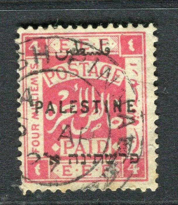 PALESTINE; 1920-21 early Optd. issue fine used 4m. value