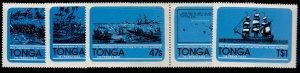 TONGA QEII SG798-802, 1981 175th anniversary of Port au Price set, NH MINT.