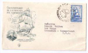 Argentina FDC 1947 Anniv Training Frigate Cover Sc 567