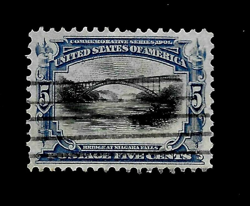 US 1901 Sc 297  5¢ Pan American Used - Light Cancel - Vivid Color
