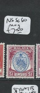 MALAYA NEGRI SEMBILAN (P0410B) $1.00 ARMS SG 60  MOG