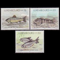 LUXEMBOURG 1998 - Scott# 981-3 Freshwater Fish Set of 3 NH