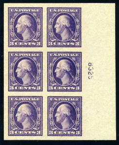 UNITED STATES SCOTT# 484 MINT NEVER HINGED PLATE BLOCK AS SHOWN