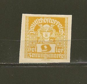 Austria P34 Newspaper Stamp Mint Hinged