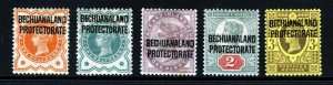 BECHUANALAND PROTECTORATE QV 1897-02 Overprinted Part Set SG 59 to SG 63 MINT