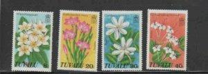 TUVALU #92-95 1978 WILD FLOWERS MINT VF NH O.G