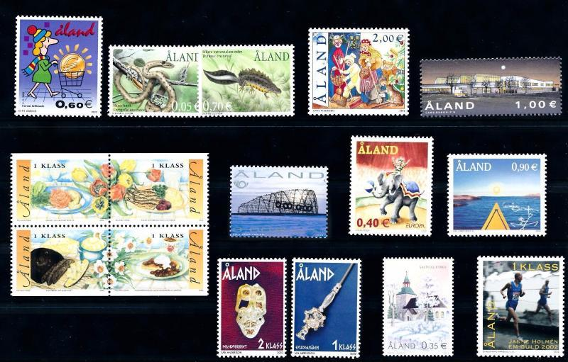 [58584] Aland 2002 Complete Year Set  MNH