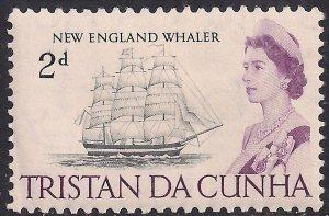 Tristan Da Cunha 1965 - 67 QE2 2d New England Whaler MM SG 74 ( J918 )