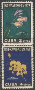 CUBA 611-12 CHRISTMAS FLOWERS 170B-1