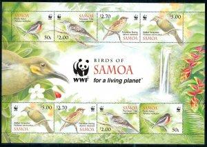 [I1056] Samoa 2009 Birds WWF good sheet very fine MNH