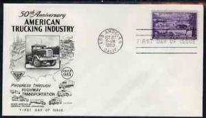 United States 1953 50th Anniversary of Trucking Industry ...