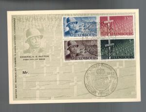 1947 Luxembourg First Day Postcard Cover USA General George S. Patton # 242-245