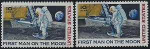 C76 -Color Shift Error / EFO First Man on the Moon 3/4 Earth 1/4 Moon MNH
