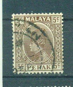 Malaya - Perak sc# 72 (5) used cat value $.25