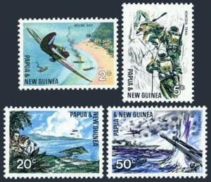 Papua New Guinea 245-248,MNH.Michel 119-122. WW II battles in Pacific,1967.