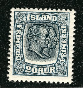 Iceland Sc#107 Mint OG F-VF Typical Cracked Gum SCV $250...powerful bargain!!