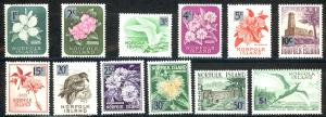 Norfolk Island Sc# 71-82 MNH 1966 Surcharged Definitives