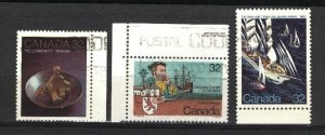 Can #1009,1011-12   -1  used VF 1984 PD