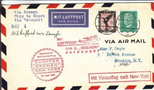 1931, Berlin, Germany to Brooklyn, NY, Catapult Mail, See Remark (27636)