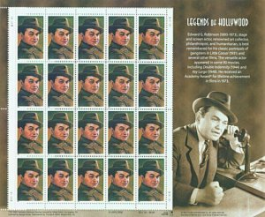 US Stamps - 2000 Edward G Robinson - 20 Stamp Sheet,   #3446