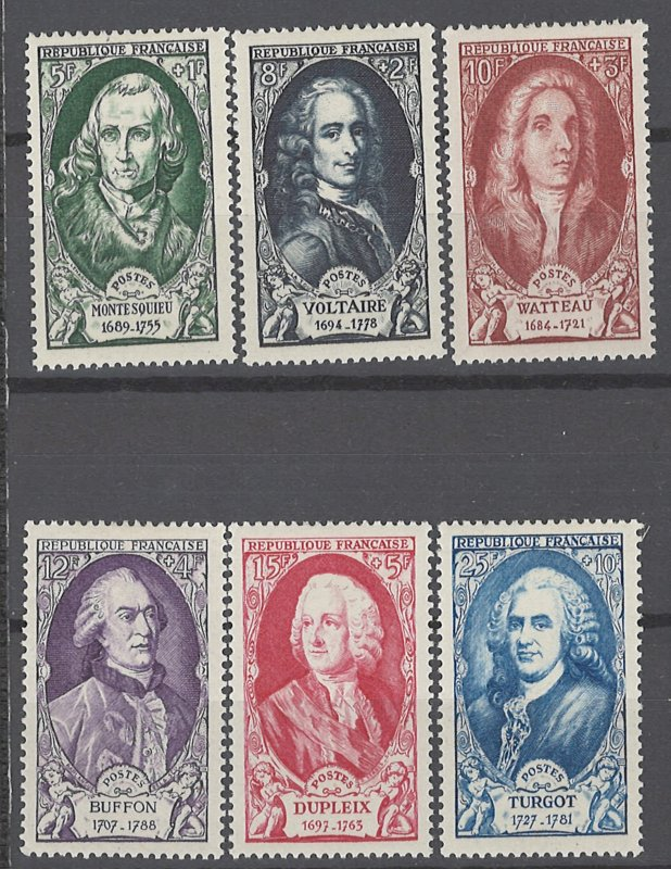 COLLECTION LOT OF # 1962 FRANCE #B238-43 MH 1949 CV=$25