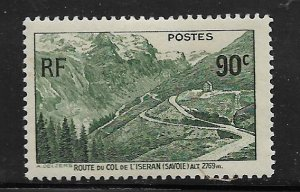 FRANCE, 334, MINT HINGED, MOUNTAIN ROAD