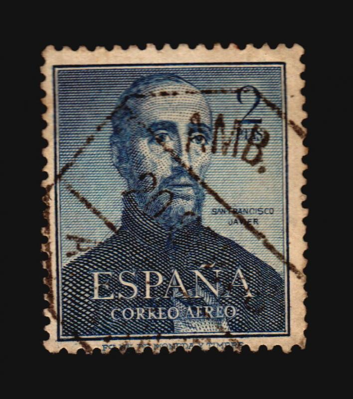 SPAIN Religious St. Francis Xavier Jesuit India China Sc  #C138 XF cv$14