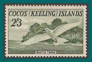 Cocos 1963 White Tern, MLH  6,SG6
