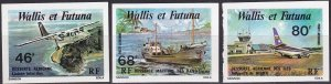 Wallis & Futuna Islands #C87-9  MNH Imperf  (Z9199)