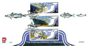 Namibia - 2004 Fishing Industry FDC SG 971-973