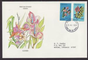 Ghana Flowers 1984 Typed FDC BIN