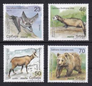 Serbia 2019 Fauna Animals Bats Polecats Chamois Bears Nature Mammals MNH a
