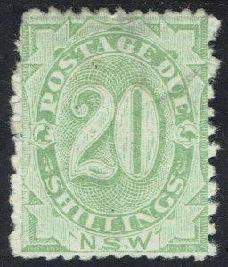 NEW SOUTH WALES 1891 POSTAGE DUE 20/- PERF 12 X 10