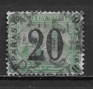 Egypt 42 1884 20pa Surcharge Used (z3)