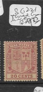 MAURITIUS (P0202B) ARMS 20C SG 221  SHADE     MNH