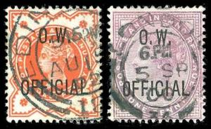 GREAT BRITAIN O44-45  Used (ID # 79089)