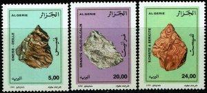 Algeria #1154-56  MNH - Rocks (1999)