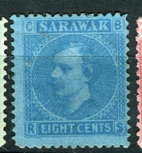 SARAWAK; 1875 early classic C.Brooke issue Mint unused 8c. value