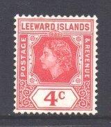 Leeward Is Scott 137 - SG130, 1954 Elizabeth II 4c MH*