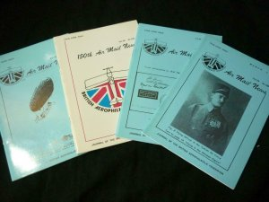 FOUR ISSUES OF AIR MAIL NEWS No's 148-151 (1991)
