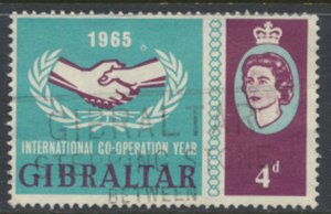 Gibraltar SG 183   SC# 169  Cooperation Year  Used  see scan