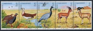 Turkey B169-B173a,MNH. Wildlife Conservation:Fauna 1979.Black francolin,Crane,