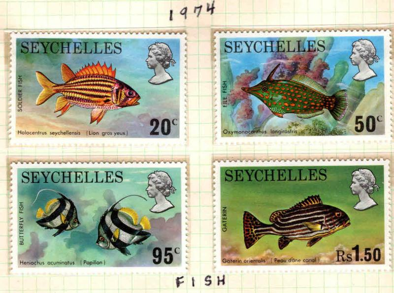 Seychelles Scott 313-316 MNH** Fish set 1974